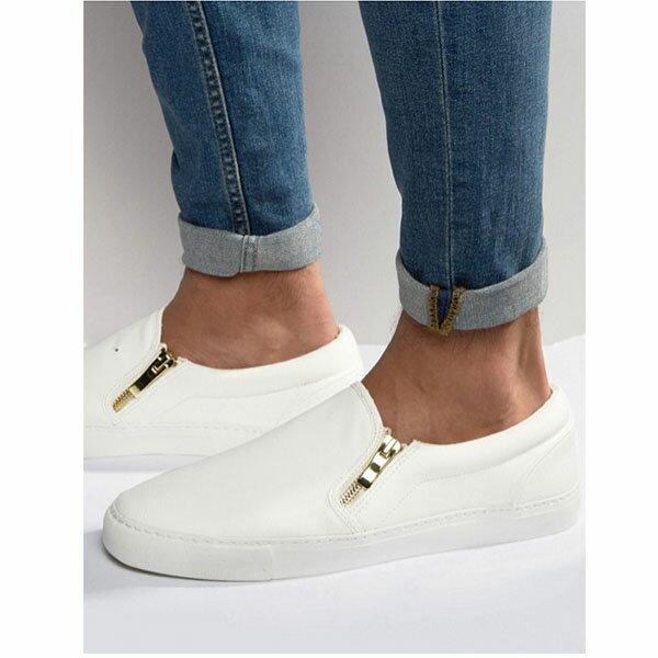 【ユニセックス】【エスパドリーユ】【メンズ 靴】【Espadrilles】【セレブファッション】【セレブ 愛用】【セレブ シューズ】【スリッポン】【Plimsolls】【ブラック】【White】【レザールック スリッポン】