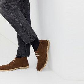 靴 シューズ asos ASOS エイソス メンズ ASOS DESIGN 茶色 スエード 砂漠 チャッカブーツ 大きいサイズ インポート エクストリームスーパースキニーフィット スウェットパンツ ジーンズ ジーパン 20代 30代 40代 ファッション コーディネート