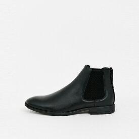 靴 シューズ ASOSセレクト New Look asos ASOS エイソス メンズ New Look ブラック フェイクレザー チェルシーブーツ 大きいサイズ インポート エクストリームスーパースキニーフィット スウェットパンツ ジーンズ ジーパン 20代 30代 40代 ファッション コーディネート