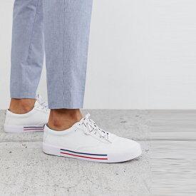 靴 シューズ asos ASOS エイソス メンズ ASOS DESIGN ネイビー 白 レッド ディテール plimsolls アップレース 大きいサイズ インポート エクストリームスーパースキニーフィット スウェットパンツ ジーンズ ジーパン 20代 30代 40代 ファッション コーディネート