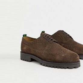 靴 シューズ ASOSセレクト WALK London asos ASOS エイソス メンズ WALK London 茶色 スエード ショー brogues 大きいサイズ インポート エクストリームスーパースキニーフィット スウェットパンツ ジーンズ ジーパン 20代 30代 40代 ファッション コーディネート