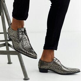 靴 シューズ ASOSセレクト Jeffery West asos ASOS エイソス メンズ Adamant アニマルプリント レザーシューズ 大きいサイズ インポート エクストリームスーパースキニーフィット スウェットパンツ ジーンズ ジーパン 20代 30代 40代 ファッション コーディネート
