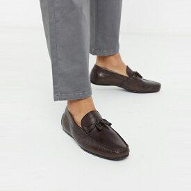 靴 シューズ asos ASOS エイソス メンズ ASOS DESIGN ブラウン ソフトレザー 駆動 靴 大きいサイズ インポート エクストリームスーパースキニーフィット スウェットパンツ ジーンズ ジーパン 20代 30代 40代 ファッション コーディネート