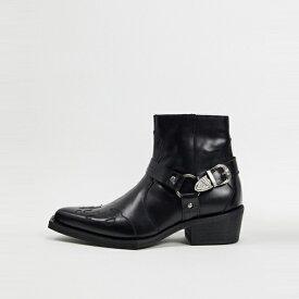 靴 シューズ asos ASOS エイソス メンズ ASOS EDITION 正方形 つま先 革 西部 キューバ ブート 大きいサイズ インポート エクストリームスーパースキニーフィット スウェットパンツ ジーンズ ジーパン 20代 30代 40代 ファッション コーディネート