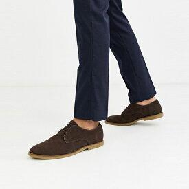 靴 シューズ ASOSセレクト Topman asos ASOS エイソス メンズ Topman 茶色 スエード ダービー 靴 大きいサイズ インポート エクストリームスーパースキニーフィット スウェットパンツ ジーンズ ジーパン 20代 30代 40代 ファッション コーディネート