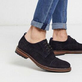 靴 シューズ ASOSセレクト River Island asos ASOS エイソス メンズ River Island ネイビー toecap スエード ダービー 大きいサイズ インポート エクストリームスーパースキニーフィット スウェットパンツ ジーンズ ジーパン 20代 30代 40代 ファッション コーディネート