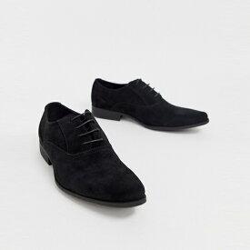 靴 シューズ asos ASOS エイソス メンズ ASOS DESIGN ブラック フェイク スエード オックスフォード シューズ 大きいサイズ インポート エクストリームスーパースキニーフィット スウェットパンツ ジーンズ ジーパン 20代 30代 40代 ファッション コーディネート