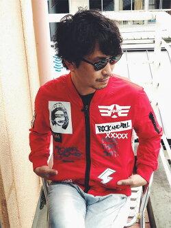 メンズボンバージャケットMA1ジャケット長袖アウターアナーキープリントデザインブラックグリーンレッドストリートメンズジャケットアウター大きいサイズインポート20代30代40代ファッションコーディネートオシャレカジュアルDIVAセレクト