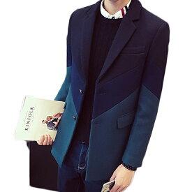 メンズ トレンチコート アウター オーバーコート ビジネスコート チェスターコート ロング ジャケット スリムフィット オーバーコート スリム 暖か 秋冬 冬服 秋 インポート 20代 30代 40代 ファッション コーディネート オシャレ カジュアル DIVAセレクト