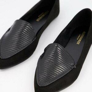 アクセサライズ Accessorize 先のとがったつま先のスリッパバレエシューズを黒でアクセサリー化 靴 レディース 女性 インポートブランド 小さいサイズから大きいサイズまで