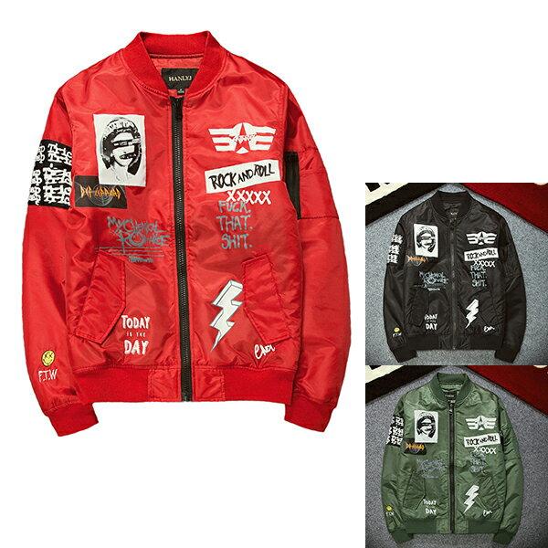 メンズ ボンバージャケット MA1 ジャケット 長袖 アウター アナーキー プリントデザイン ブラック グリーン レッド ストリート メンズ ジャケット アウター 大きいサイズ インポート 20代 30代 40代 ファッション コーディネート オシャレ カジュアル DIVAセレクト