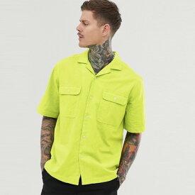 ASOS メンズ トップス 半袖 ネオンカラー ポケットシャツ ブラウス Tシャツ レギュラーフィット 20代 30代 40代 ファッション コーディネート XXS〜XXXL オシャレ トレンド Tシャツ 半袖 インポート トレンド