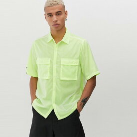 ASOS メンズ トップス 半袖 ネオンカラー ポケットシャツ ブラウス Tシャツ オーバーサイズ 20代 30代 40代 ファッション コーディネート XXS〜XXXL オシャレ トレンド Tシャツ 半袖 インポート トレンド