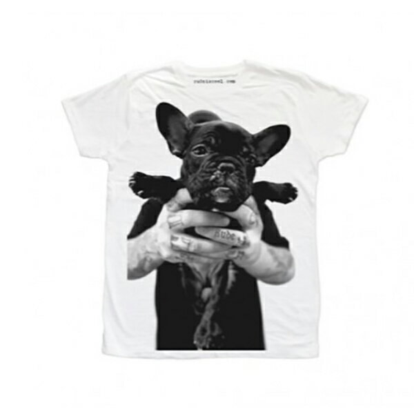 RUDE(ルード)Tシャツ ホワイト 犬 ドッグ 20代 30代 40代 ファッション コーディネート 大きいサイズ 日本未入荷 半袖 メンズ レディース カジュアル ユニセックス メンズ 大人 男性 女性 黒 白 S M L XL フェス