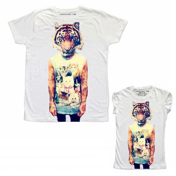 RUDE(ルード)ルード tシャツ イタリア タイガー 虎 Tシャツ ホワイト 20代 30代 40代 ファッション コーディネート 大きいサイズ 日本未入荷 半袖 メンズ カジュアル ユニセックス メンズ 大人 男性 女性 レディース プリントt