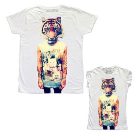 RUDE(ルード)ルード tシャツ イタリア タイガー 虎 Tシャツ ホワイト 20代 30代 40代 ファッション コーディネート 大きいサイズ 日本未入荷 半袖 メンズ カジュアル ユニセックス メンズ 大人 男性 女性 レディース edm フェス プリント Tシャツ フォトt