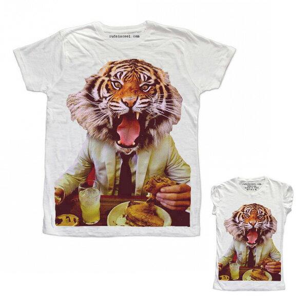 RUDE(ルード)ルード tシャツ イタリア tシャツ メンズ プリントtシャツ タイガー Tシャツ ホワイト 20代 30代 40代 ファッション コーディネート 大きいサイズ 日本未入荷 半袖 メンズ カジュアル ユニセックス メンズ 大人 男性 女性 レディース プリントt