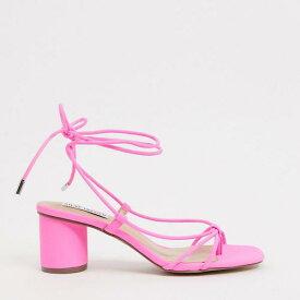 スティーブマデン Steve Madden スティーブマッデンイヴァンナミッドヒールネイキッドサンダルピンク 靴 レディース 女性 インポートブランド 小さいサイズから大きいサイズまで