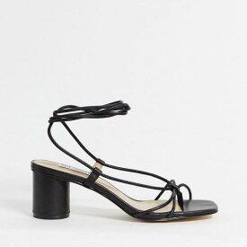 スティーブマデン Steve Madden スティーブマッデンイヴァンナミッドヒールネイキッドサンダルブラック 靴 レディース 女性 インポートブランド 小さいサイズから大きいサイズまで