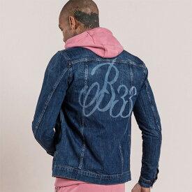 Bee Inspired Clothing(ビーインスパイアードクロージング) アウター デニムジャケット フーディー ジャケット ダメージ スウェット パーカー メンズ スリムフィット 大きいサイズ インポート トレンド 20代 30代 40代 ファッション コーディネート カジュアル 日本未入荷