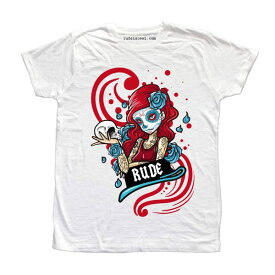 RUDE(ルード)ガール 薄手 フォトプリント Tシャツ ホワイト ブラック 20代 30代 40代 ファッション コーディネート 大きいサイズ インポートブランド 日本未入荷 半袖 メンズ レディース メンズ 大人 edm フェス プリント Tシャツ フォトプリント フォトt