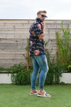 アロハシャツメンズ開襟開襟シャツ半袖シャツシャツ花柄アロハ柄総柄総柄シャツオープンカラーレーヨン半袖メンズカジュアルリゾートストリートヴィンテージレトロアメカジインポートトレンド小さいサイズから大きいサイズあり