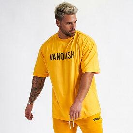 UK発 VANQUISH FITNESS(ヴァンキッシュフィットネス) ロゴ オーバーサイズTシャツ 大きいサイズ インポート ヴァンキッシュ vanquish fitness ヴァンキッシュフィットネス スポーツウェア ジムウェア 小さいサイズあり 高身長