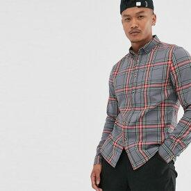 ASOS チェックシャツ ブラウス メンズ 長袖 ロングスリーブ フェス トレンド インポート 日本未入荷 大きいサイズあり 流行 最新 メンズカジュアル asos 小さいサイズあり 高身長 低身長