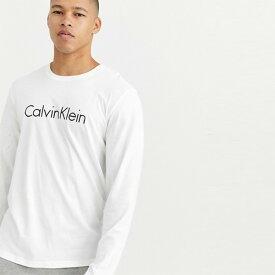 Calvin Klein ホワイト メンズ コットン トップス プルオーバー メンズ 長袖 ロングスリーブ フェス トレンド インポート 大きいサイズあり 流行 最新 メンズカジュアル カルバンクライン 小さいサイズあり