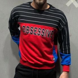 Gentleman To Be(ジェントルマントゥービー)スエット トレーナー ボーダー スウェットシャツ メンズ 20代30代40代 日本未入荷 大きいサイズあり 流行 最新 メンズカジュアル edm フェス ファッション