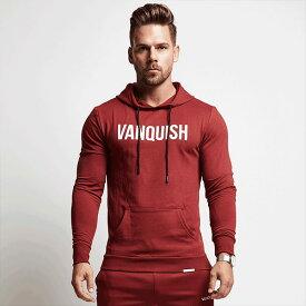 UK発!VANQUISH FITNESS(ヴァンキッシュフィットネス)ロゴ パーカー フード vanquish fitness ヴァンキッシュフィットネス バンキッシュフィットネス vanquish 高身長 京都のセレクトショップdivacloset