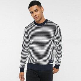 Calvin Klein カルバンクライン Calvin Klein Jeans カルバンクラインテクスチャストライプクルーネックセーター小さいサイズから大きいサイズまで