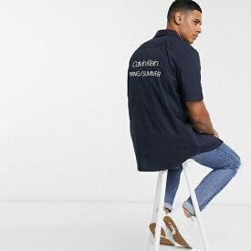 Calvin Klein カルバンクライン Calvin Klein Jeans カルバンクラインプリントロゴ半袖シャツ 小さいサイズから大きいサイズまで