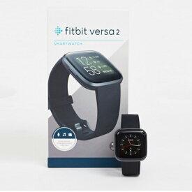 Fitbit Versa 2スマートウォッチブラック インポート 大きいサイズ 20代 30代 40代 インポート ブランド