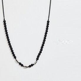 Icon Brand アイコン ブランド ビーズネック チェーン ブラック 20代 30代 40代 ファッション コーディネート オシャレ カジュアル