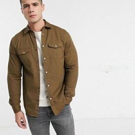 オーバーシャツ 長袖 インポート 大きいサイズ 20代 30代 40代