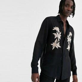 ASOS DESIGN フロント刺繍 レギュラーフィット シャツ 20代 30代 40代 ファッション コーディネート オシャレ カジュアル