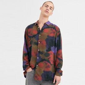 ASOS DESIGN 特大 ロングライン シャツ(散財プリント) 20代 30代 40代 ファッション コーディネート オシャレ カジュアル