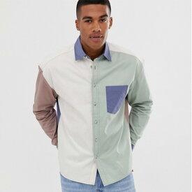 ASOS DESIGN オーバーサイズ 90年代 スタイル パステル カットソー シャツ 20代 30代 40代 ファッション コーディネート オシャレ カジュアル