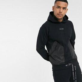 Religion 黒 ユーティリティ コントラスト ポケット付き パーカー 20代 30代 40代 ファッション コーディネート小さいサイズから大きいサイズまで