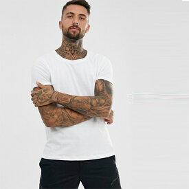 ASOS DESIGN ホワイト スクープネック Tシャツ メンズ トップス 20代 30代 40代 ファッション コーディネート オシャレ カジュアル
