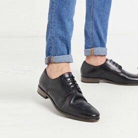 River Island コントラスト ソール付き ブラック リバーアイランド ダービーシューズ 靴 大人カジュアル 30代 40代 20代