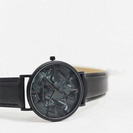 モットル エフェクト ダイヤル ASOS DESIGN ブラック 時計 大人カジュアル 30代 40代 20代 インポートブランド メンズ