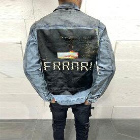 Gentleman To Be(ジェントルマントゥービー)ブルー「ERROR」デニム ジャケット アウター 20代30代40代 日本未入荷 大きいサイズあり 流行 最新 メンズカジュアル edm フェス ファッション 京都のセレクトショップdivacloset