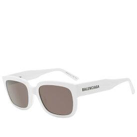BALENCIAGA バレンシアガ フラット サングラス ホワイト&グレー お洒落 ポイントアクセサリー メンズ インポートブランド