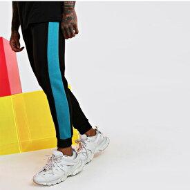 boohoo(ブーフー)サイド パネル付き スキニー フィット ジョガー 大きいサイズあり 流行 最新 メンズカジュアル ファッション