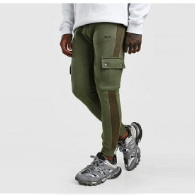 boohoo(ブーフー)サイド パネル付き オリジナル マン カーゴ ジョガー スウェットパンツ 大きいサイズあり 流行 最新 メンズカジュアル ファッション