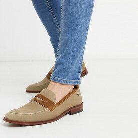 ベース ロンドン レンズ ペニー ローファー ベージュ スエード 靴 インポート 大きいサイズ 20代 30代 40代