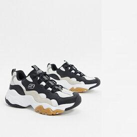 Skechers d'lites 3.0 トレーナー(ブラック タン) 靴 20代 30代 40代 ファッション コーディネート 小さいサイズから大きいサイズまで オシャレ トレンド インポート トレンド