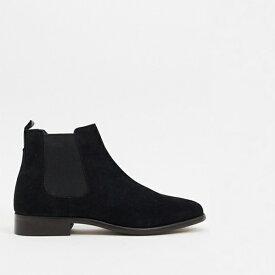 ブラック スエード ロンドンハリントン チェルシーブーツ 靴 20代 30代 40代 ファッション コーディネート小さいサイズから大きいサイズまで オシャレ トレンド インポート トレンド